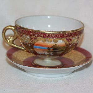 Vintage Royal Vienna Scenic Cup & Saucer